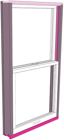 Exterior Parts of a Double-Hung Window
