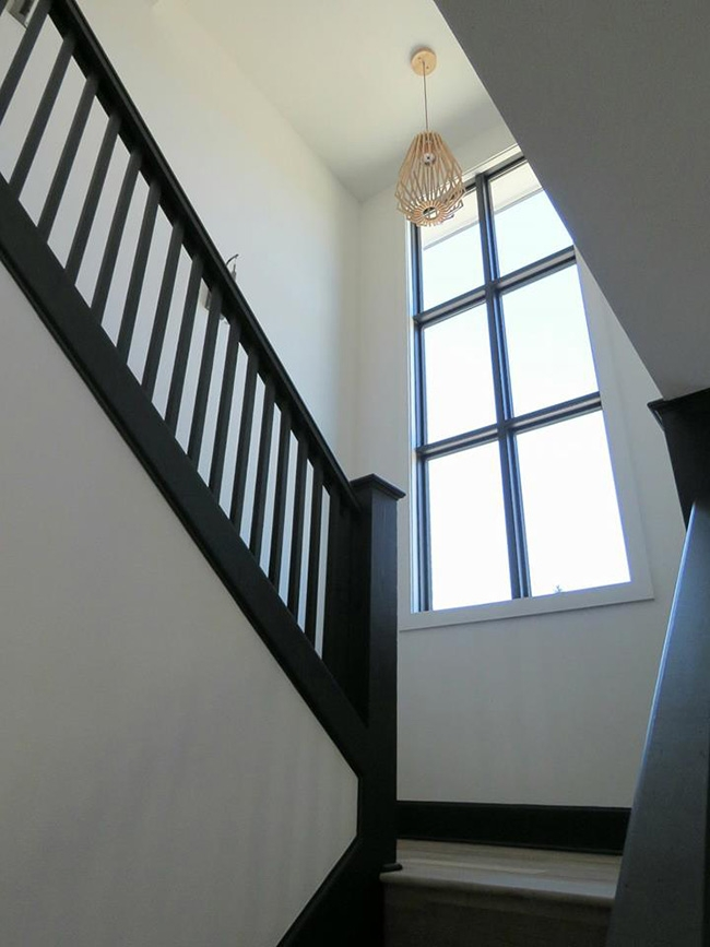 staircase remodel with pella windows by mackey adams