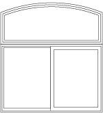 arch head over 2-panel sliding window
