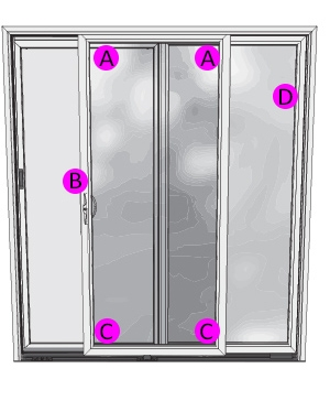 sliding patio door serial number