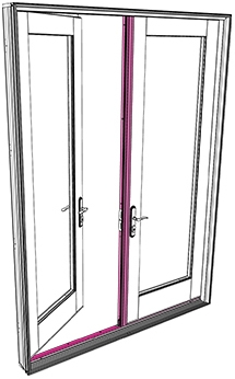 Exterior Parts of a Hinged Patio Door