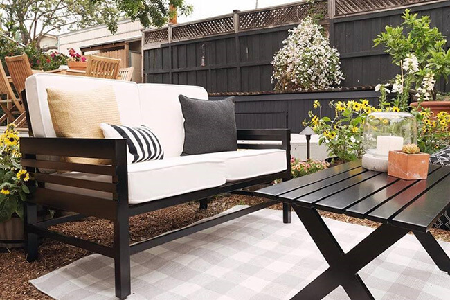 spring home maintenance matte black patio furniture