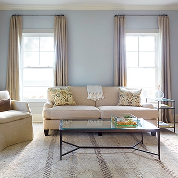 new york on mute hang curtains two white double hung windows