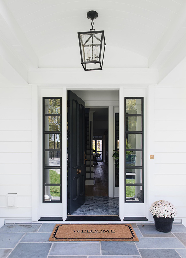 entry door transoms black with grilles dual sidelights