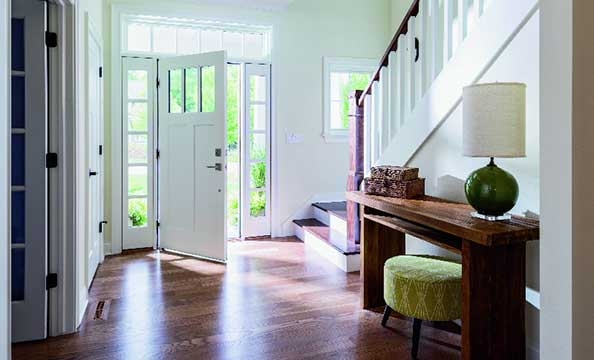 architect series entry door craftsman light with sidelights and transom