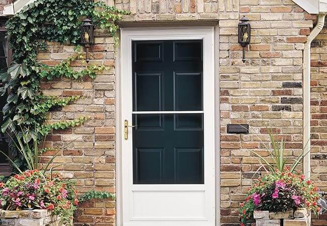 storm door benefits half glass storm door white steel frame