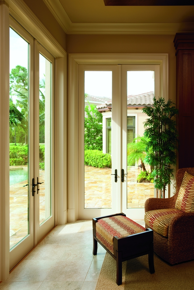 Architect Series hinged patio doors closed no grilles