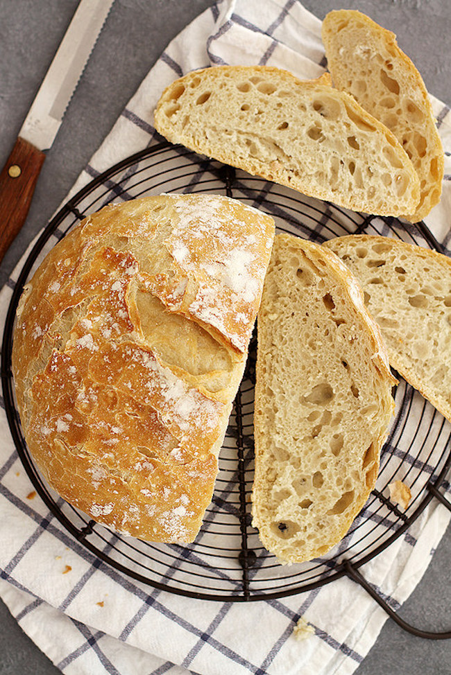 no knead dutch oven bread by girl vs dough