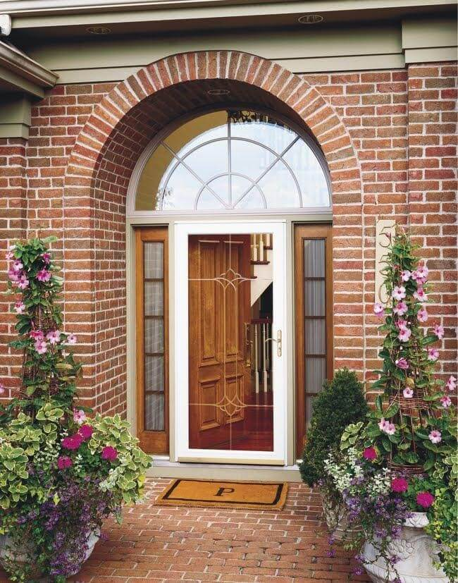 storm door benefits full glass storm door with white frame