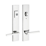 Multipoint lock handle with polished chrome finish