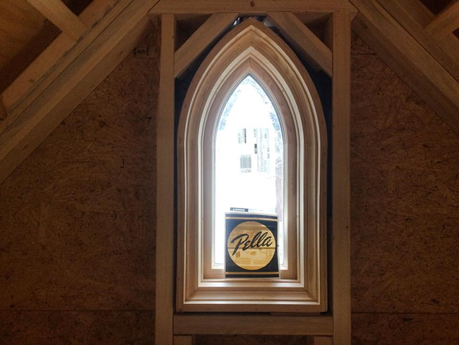 Interior view of a Pella custom lancet window in Jonathon