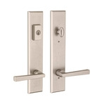 Multipoint lock handle with distressed nickel finish