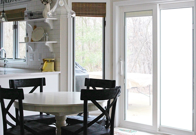 Farmhouse Kitchen Remodel - Pella 350 Series Sliding Patio Door