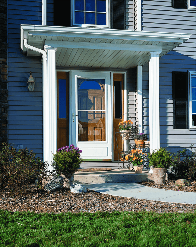 storm door benefits storm door over wood entry door blue home