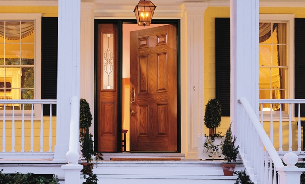 encompass entry door six panel with one sidelight