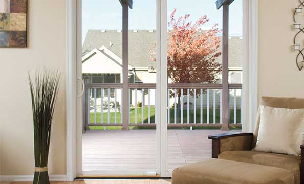 pella impervia 1 sliding patio door two panel