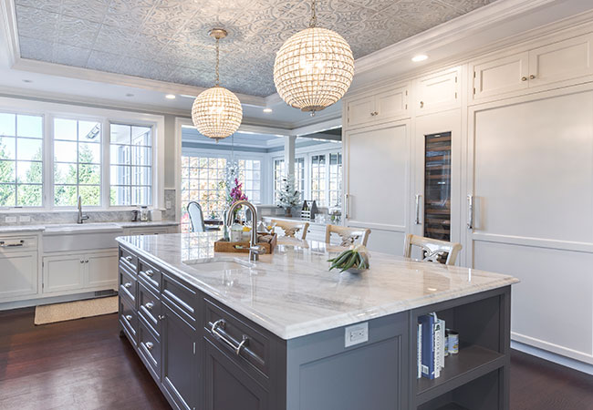 New York kitchen remodel with a large island