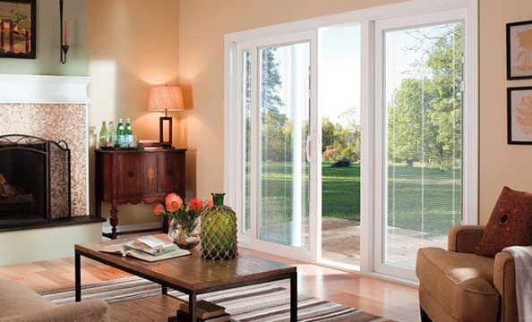 pella 350 series 1 sliding patio door three panel