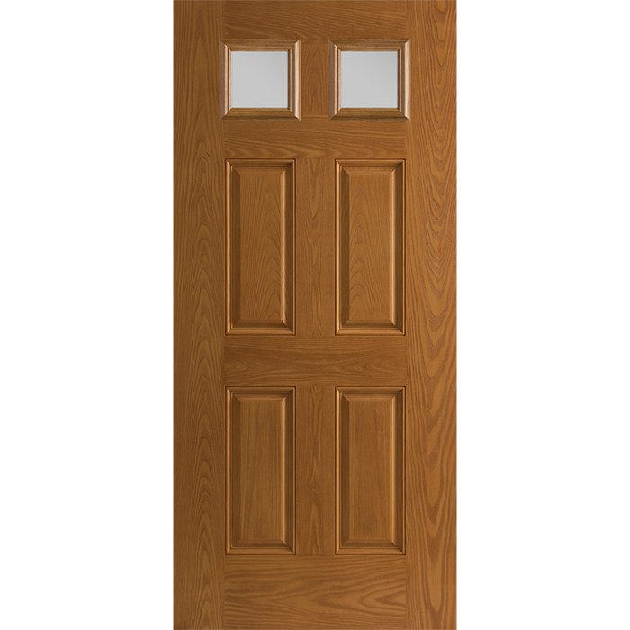 Twin Colonial Light Entry Door with Glass