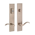 multipoint lock with satin nickel finish