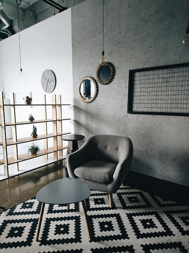 grey white and black modern home décor shopping