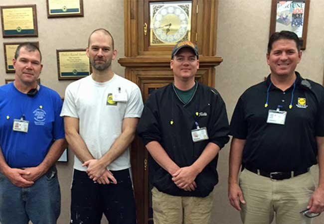 Four members of the Sioux City Energy Team