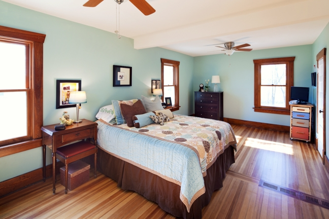Master bedroom featuring 3 large Pella windows