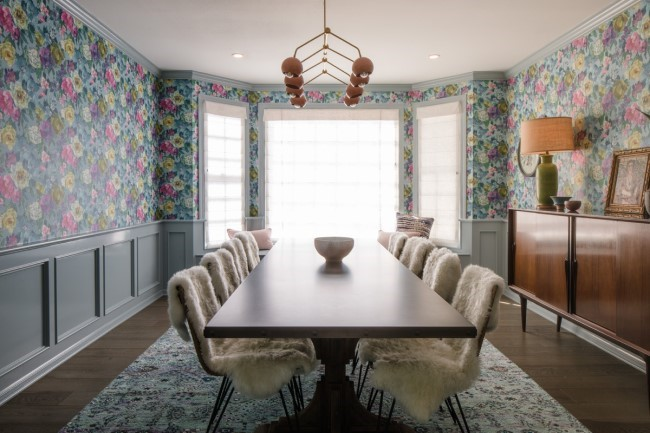 wallpaper ideas floral wallpaper dining room