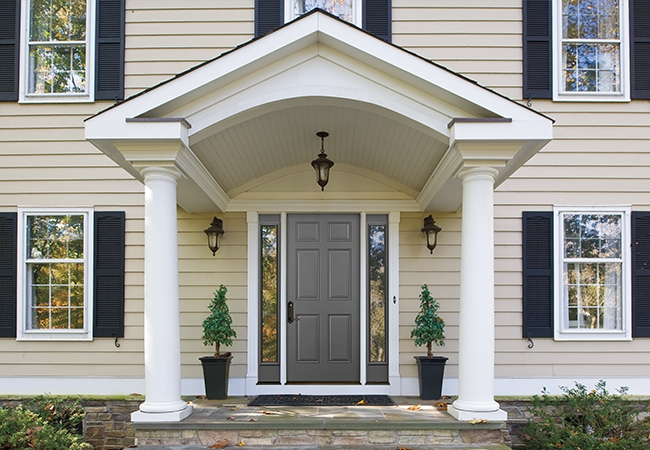 Total Home Refresh - Pella Architect Series 6 Panel Solid-Panel Entry Door with Sidelights