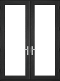 architect series contemporary hinged patio door