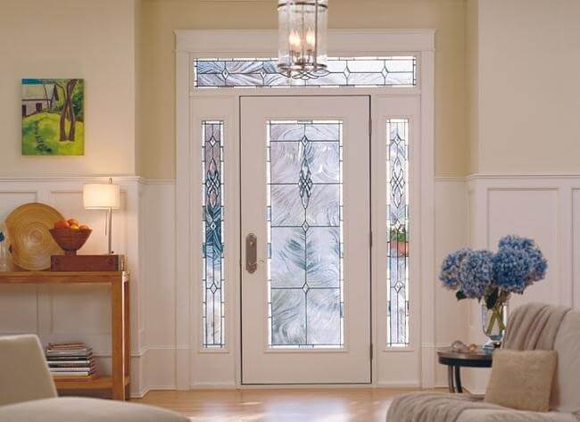 front door colors full light entry door with glass sidelights and transom decorative glass