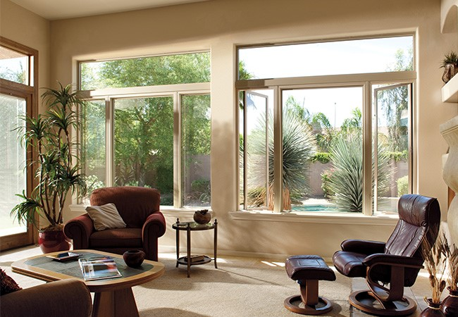 Impervia Casement fixed window in a living room