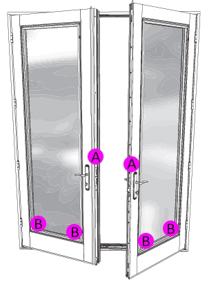 hinged patio door serial number