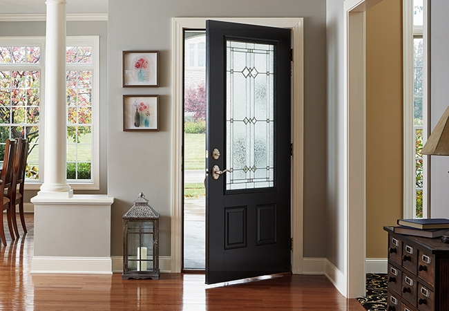 decorating a new home with a new door