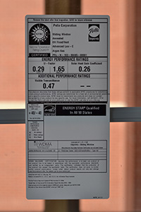 A Pella Windows NFRC label
