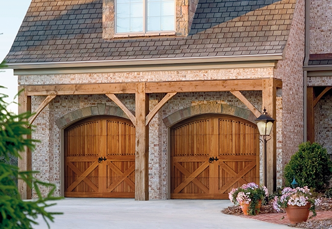 Victorian and Colonial homes look best with carriage house doors
