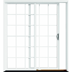 pella impervia sliding patio door with grilles