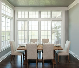 performance vinyl casement and hung windows dining room