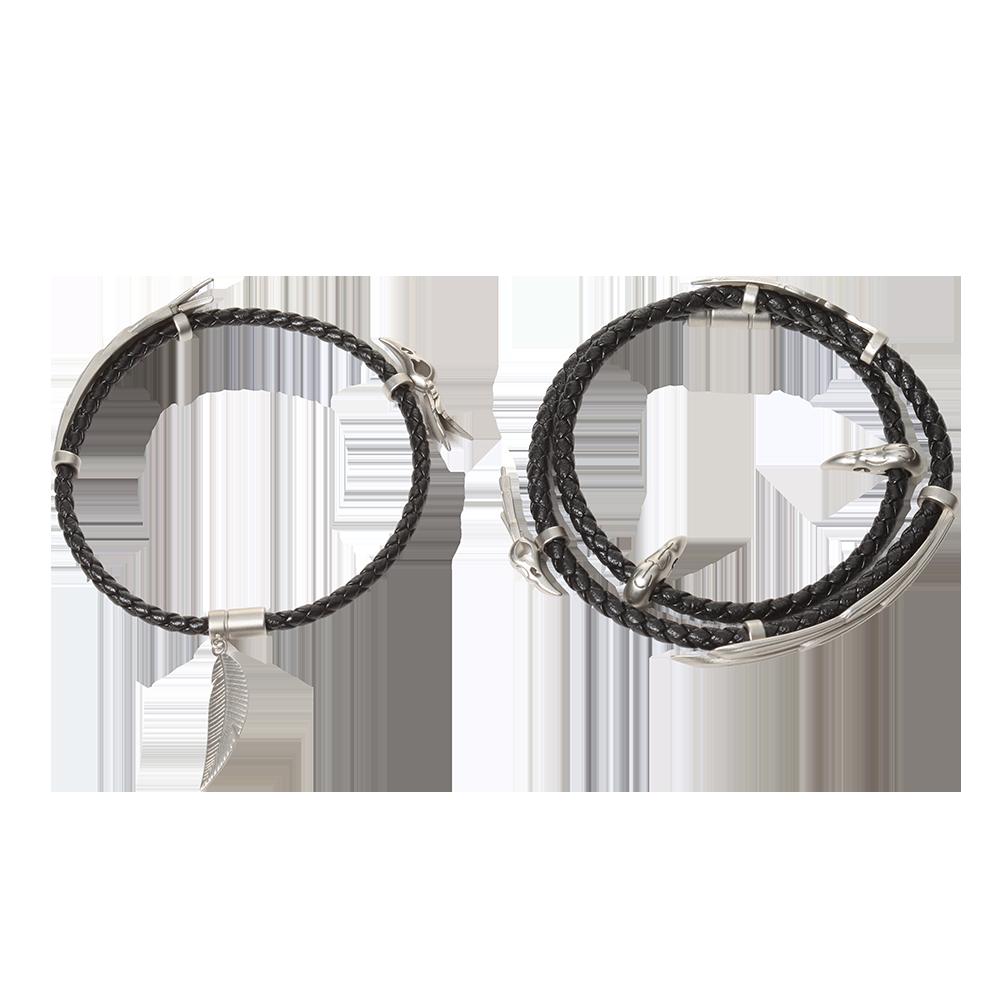 Friendship Bracelet Couples Bracelet Gamer Gift Matching Bracelet Rakan and Xayah Friendship Bracelet Rakan Xayah Feathers