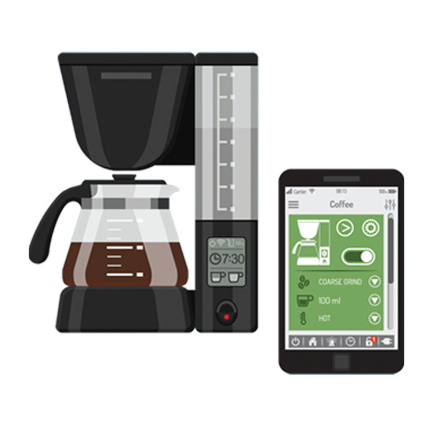 smart coffee maker icon