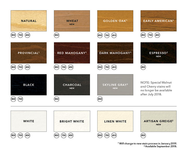 wood window color offerings
