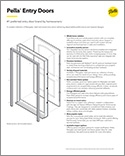 entry doors b2b spec sheet