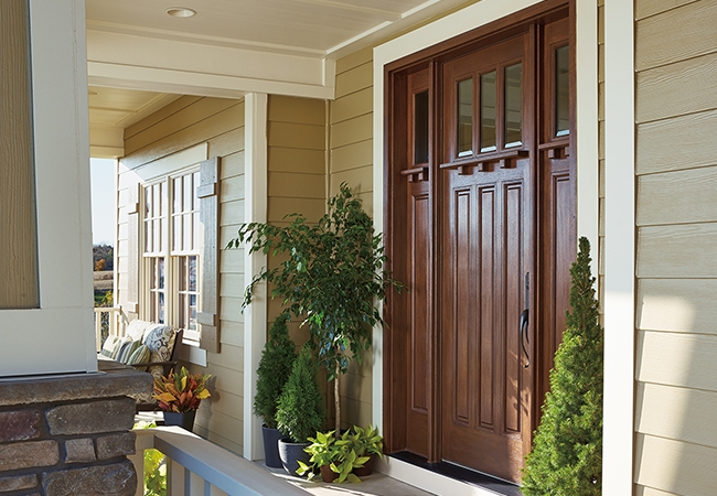 A new entry door can improve your home's security