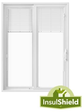 250 series energy efficient sliding patio door with insulshield logo