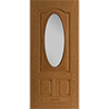 3/4 Oval 3 Panel Arch Entry Door