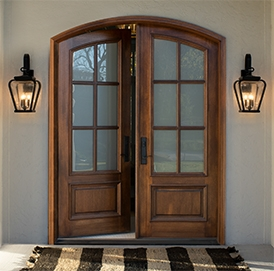 wood entry doors double-door