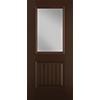 Half Light 1 Panel Plank Entry Door