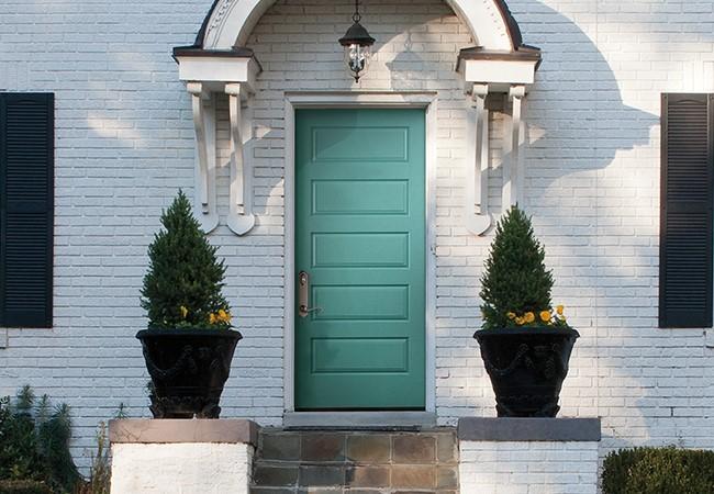 entry door color sparking teal