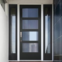 fiberglass full light smooth entry door
