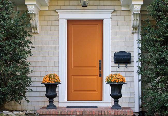 entry door color spirited orange